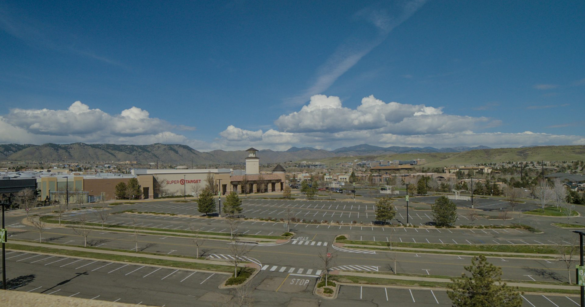 Screen Grab from Sony FS5MII + Atomos Inferno Shogun of the empty parking lots at Colorado Mills.